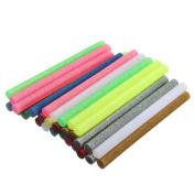 20 Pcs 7x100mm Glitter Multicolor Hot Melt Glue Adhesive Sticks For Handicraft Art Heating Glue Gun