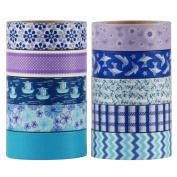 UOOOM 10 Rolls Decorative Washi Tape Masking Tape Adhesive Scrapbooking DIY Craft Gift