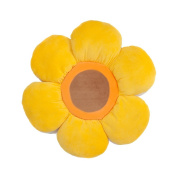 Floor Bloom Soft and Cosy Flower Floor Pillow for Kids (Yellow, Large - Magic Garden Collection).