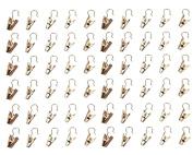 yueton 60pcs Metal Hook Clips Hanging Curtain Clip Hanger