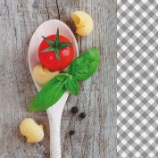 Mario Tomato & Basil design 3 ply printed paper napkin by Stewo / 20 Pack - 33x33cm