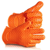 Touch Life Heat Resitant Silicone Griling Cooking BBQ Baking Oven Glove Orange