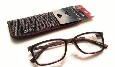 3.00 Foster Grant Brown tortoise Hobbes eyeglasses reading glasses