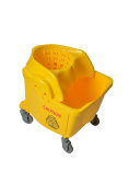 Janico 1016 Institutional Mop Bucket with Wringer Combo, 33.1l, 7.6cm Casters, Yellow