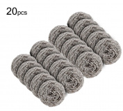 20PCS Stainless Steel Sponge - Kitchen and Bathroom Cleaning and Washing Sponge