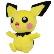 "Pokemon T18536D12PICHU 20cm Officially Licenced ""Pichu"" Plush Toy"