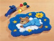 Vervaco Bear on Cloud Latch Hook Kit, Multi-Colour