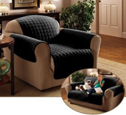 Emma Barclay Quilted Water Resistant Furniture Protector/Cover, Black, Chair