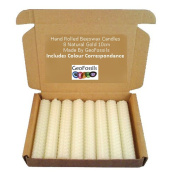 Set Of 8 Witch's Beeswax Spell Candles - White - 10cm