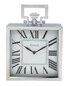 THE LEONARDO COLLECTION SQUARE MANTEL CLOCK