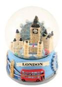 London Collage Souvenir Snowglobe Snowstorm