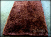 Fur Accents Sheepkin Accent Rug Collection / Dark Brown Faux Fur / Rectangle / Carpet Runner / 0.6mx0.9m