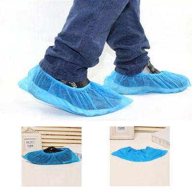 logei® 100pcs blue standard disposable shoe covers / overshoes. Floor, carpet, shoe protectors