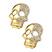 Shoelery Two Faced Skull Shoe Clips Pair by Erica Giuliani