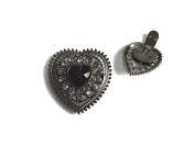 "La Loria Shoe Clips ""Heartbreaker"" Shoe Embellishments Brooches in black, 1 Pair"