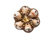 "La Loria Shoe Clips ""The Beach"" Shoe Embellishments Brooches in brown-beige-white, 1 Pair"
