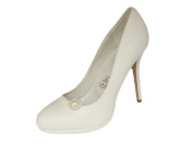 "La Loria Woman Shoe Clips ""Pegasus"" Shoe Embellishments Brooches in cream, 1 Pair"