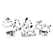 Mochiglory Christmas Cookie Cutter Set-8 Pieces-Holiday Stainless Steel Cookie Mould