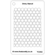 That'S Crafty Dinky Stencil 7.6cm x 12cm -Honeycomb Background