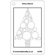 That's Crafty Dinky Stencil 7.6cm x 12cm -Bubble Tree