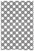 Sue Wilson Embossing Folder Knotted Trellis EF-027 Large A4 SIze