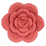 Mega Crafts 41cm Handmade Paper Flower in Coral | For Home Décor, Wedding Bouquets & Receptions, Event Flower Planning, Table Centrepieces, Backdrop Wall Decoration, Garlands & Parties