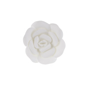 Mega Crafts 20cm Handmade Paper Flower in White | For Home Décor, Wedding Bouquets & Receptions, Event Flower Planning, Table Centrepieces, Backdrop Wall Decoration, Garlands & Parties