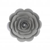 Mega Crafts 30cm Handmade Paper Flower in Silver | For Home Décor, Wedding Bouquets & Receptions, Event Flower Planning, Table Centrepieces, Backdrop Wall Decoration, Garlands & Parties