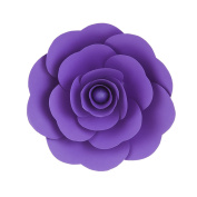 Mega Crafts 30cm Handmade Paper Flower in Purple | For Home Décor, Wedding Bouquets & Receptions, Event Flower Planning, Table Centrepieces, Backdrop Wall Decoration, Garlands & Parties