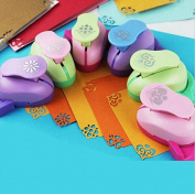 Fascola Pack of 6 Embossing DIY Corner Paper Printing Card Cutter Scrapbook Shaper large Embossing device Hole Punch Kids Handmade Craft gift YH01 ,Random design and colour