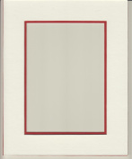 20X24 White & Bright Red Double Picture Mat, Bevel Cut for 16X20 Picture or Photo