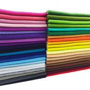 flic-flac 42pcs1.4mm Thick Soft Felt Fabric Sheet Assorted Colour Felt Pack DIY Craft Sewing Squares Nonwoven Patchwork
