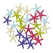 LJY 25 Pieces Multi-Coloured Resin Pencil Finger Starfish for Wedding Decor, Home Decor and Craft Project, 5.8cm