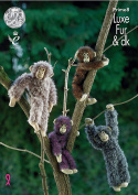King Cole Luxe Fur & Double Knitting Pattern Small or Large Chimpanzees Toys