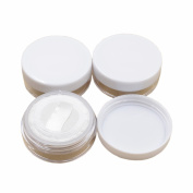 4 Pcs Plastic 5g 5ml Empty Sifter Cosmetic Loose Powder Container Jar Make-up Foundation Powder Puff Box Case With Powder Puff Sponge while lids
