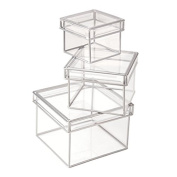 Storage Boxes Clear, Divoga. 3 pack