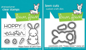Lawn Fawn Hoppy Easter Clear Stamp & Die Set - 2 Item Bundle