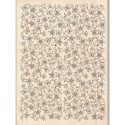 Flowers & Butterflies Background Wood Stamp | Inkadinkado