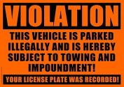 10 VIOLATION - NO PARKING - TOWING Sticker - No Parking stickers