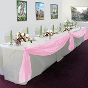 Gorgeous Home LinenMany Colours Elegant Wedding Table Valance Chair Decor Sheer Swags Fabric Party Decorations