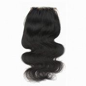 Forawme 10cm X 10cm 50cm Free Part Silk Base Closure Brazilian Hair Body Wave 100% Human Hair No Sedding No Tangle