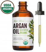 Moroccan Argan Oil (120ml), USDA Certified Organic, Virgin, 100% Pure, Cold Pressed by Kate Blanc. Stimulate Growth for Dry and Damaged Hair. Skin Moisturiser. Nails Protector. 1-Year Guarantee.