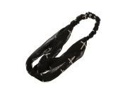 Black Stretch Headband Hair Accessory w/ White Crosses