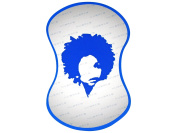 Blue Large Diva the Original NuDred Curl Sponge (Small holes)