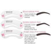 BIOAQUA Brow Class Eyebrow Card Modelling Makeup Pencil Brush 3 Forms