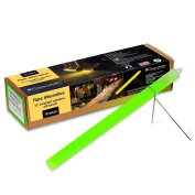 "Cyalume Technologies SA9-427049AM Green 10"" Snaplight Flare Alternative Chemical Light Sticks With Separate Bipod Stand, 2 hour Duration, 25cm"