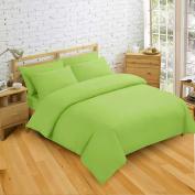 NON IRON Luxury Easycare Plain Dyed Double Duvet Cover & 2 Pillow Cases Bed Set