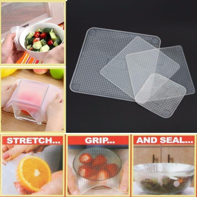 4pcs Silicone Wraps Seal Cover