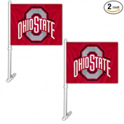 Official National Collegiate Athletic Association Fan Shop Authentic NCAA 2-pack Car Flag. Show School Pride While Driving Around Town or Another School's - Everyone Will Know Who You Represent