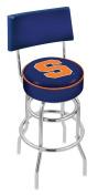 Syracuse University Swivel Bar Stool With Back
